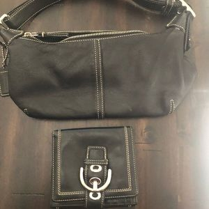 Coach small shoulder bag and wallet